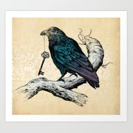 Art Print featuring Raven's Key by Rachel Caldwell