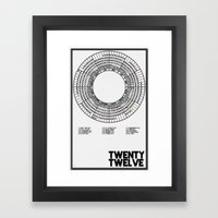 Twenty Twelve Calendar Framed Art Print