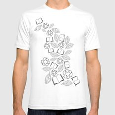 recycle reuse White Mens Fitted Tee SMALL