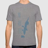 FREE (with text) Mens Fitted Tee Athletic Grey SMALL