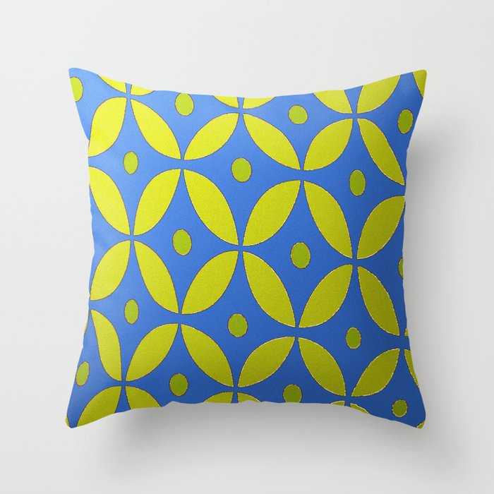 Festive blue and gold throw pillow by saundra myles society6 for Blue and gold pillows