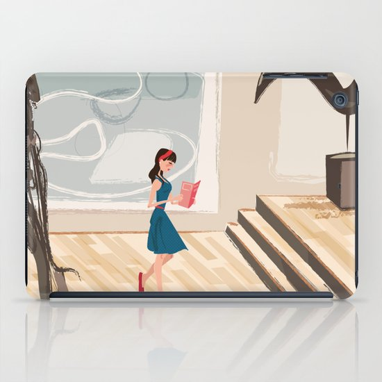 Pretty Girl at the Art Museum iPad Case