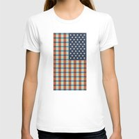 flag T-shirts featuring Plaid Flag. by Nick Nelson