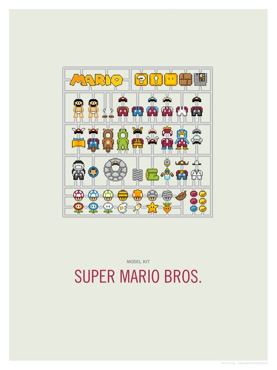 Mario Model Kit Canvas Print