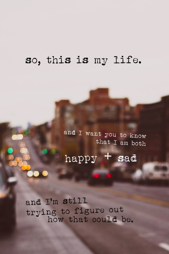perks of being a wallflower - happy + sad Canvas Print