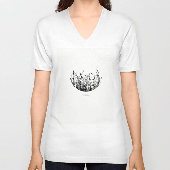 i love nature V-neck T-shirt