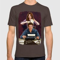 Murder, He Wrote Mens Fitted Tee Brown SMALL