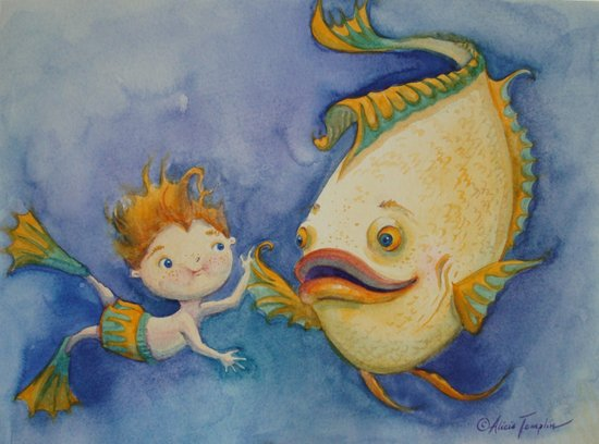 """""""Freshwater Friends"""" Canvas Print"""