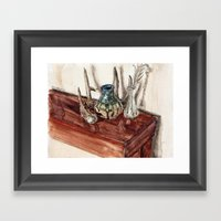 Glaze And Antler Framed Art Print