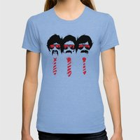 The Posse Womens Fitted Tee Tri-Blue SMALL