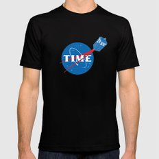 TIME SMALL Black Mens Fitted Tee