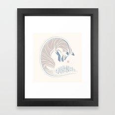 Chasing It's Tail Framed Art Print