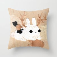 Wolpertinger Throw Pillow