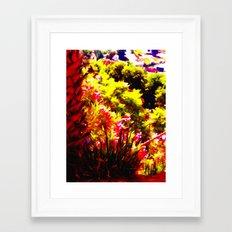 Red Pickup Framed Art Print