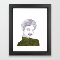 Epilation Mask Framed Art Print