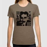 QR- Groucho Womens Fitted Tee Tri-Coffee SMALL