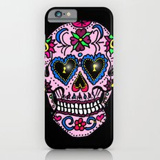 Sugar Skull, Hearts Slim Case iPhone 6s