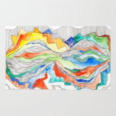 Technicolor Mountains Rug