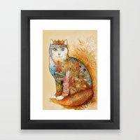 Armenia Cat - watercolor Framed Art Print