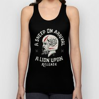 A Sheep On Arrival /Helm… Unisex Tank Top