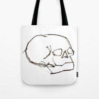 47. Twiggy Skull Tote Bag