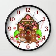 Gingerbread Crazy Design… Wall Clock