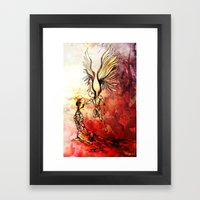 Syrian mom, a mother of angels Framed Art Print