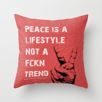 Peace Out!  Throw Pillow