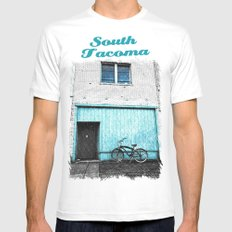 South Tacoma apartment SMALL White Mens Fitted Tee