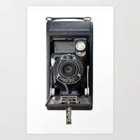 Vintage Autographic Kodak Jr. Camera Art Print