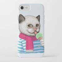 ice cream iPhone & iPod Cases featuring Ice cream by Tummeow