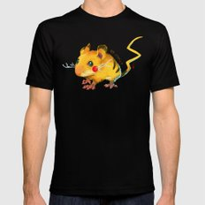 Electric Mouse Mens Fitted Tee Black SMALL