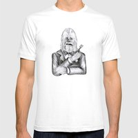 Wookie 007 Mens Fitted Tee White SMALL