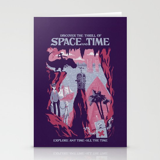 Space and Time Stationery Card