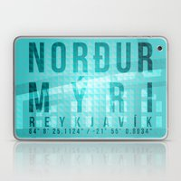 Nordurmyri Blue Laptop & iPad Skin