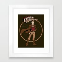 Captain Tightpants Framed Art Print