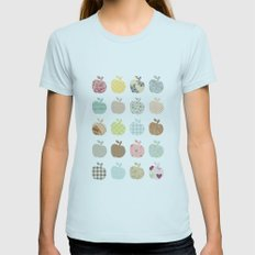 apples galore Womens Fitted Tee Light Blue SMALL