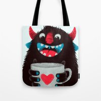 Demon With A Cup Of Coff… Tote Bag