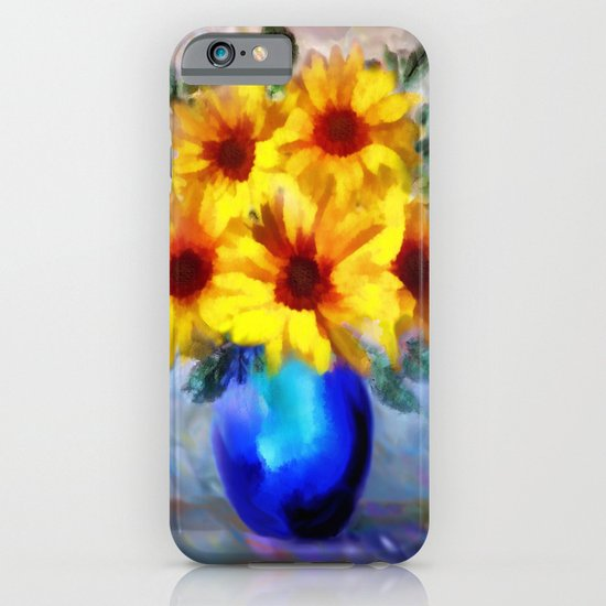 FLOWERS - A vase of Sunflowers iPhone & iPod Case