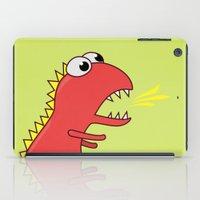 Cute Cartoon Dinosaur With Fire Breath iPad Case