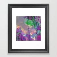Glitched Landscape 2 Framed Art Print