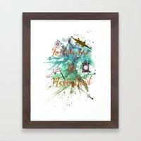 Follow Me To Neverland Framed Art Print