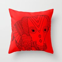 Elephant of the Day Throw Pillow