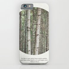 robert frost's birch trees iPhone 6 Slim Case