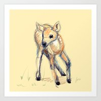 Wobbly Deer Art Print