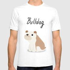 Bulldog - Cute Dog Series Mens Fitted Tee White SMALL