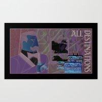 All Destinations - Deco Art Art Print
