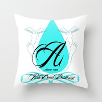 pure dead brilliant! Throw Pillow