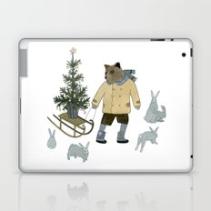 Bear, Christmas Tree and Bunnies Laptop & iPad Skin