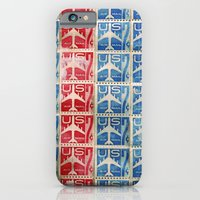 Vintage Postage Stamp Collection - 04 (airmail) iPhone 6 Slim Case